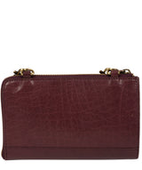 'Senga' Plum Leather Clutch Bag image 3