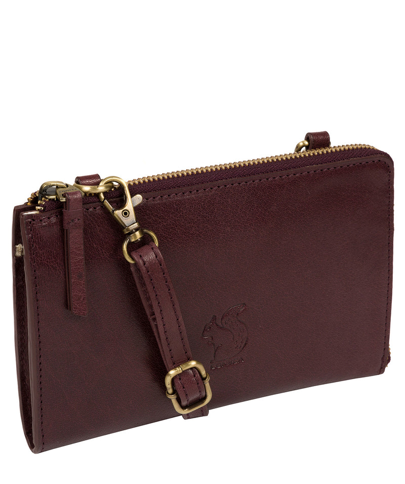 'Senga' Plum Leather Clutch Bag image 5