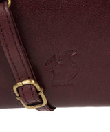 'Senga' Plum Leather Clutch Bag image 6