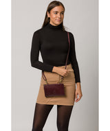 'Senga' Plum Leather Clutch Bag image 2