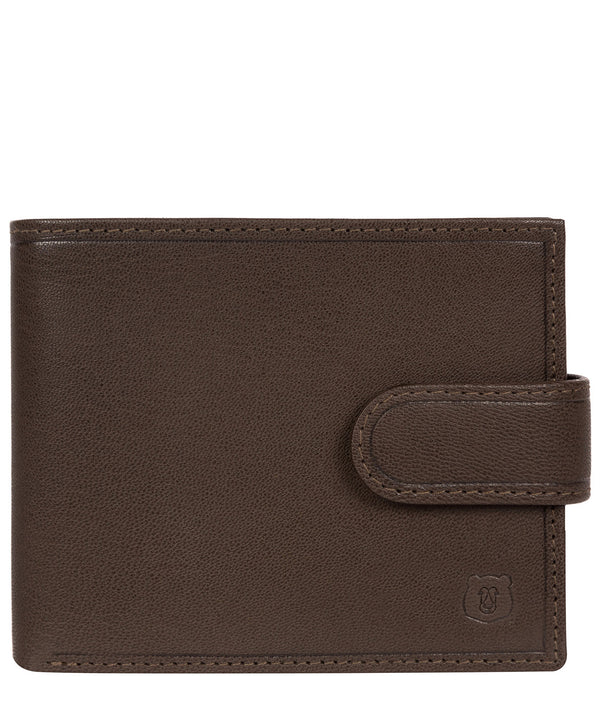 'Kinver' Dark Brown Leather Bi-Fold Wallet image 1