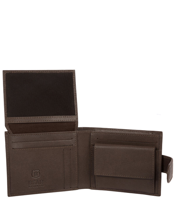 'Kinver' Dark Brown Leather Bi-Fold Wallet image 3