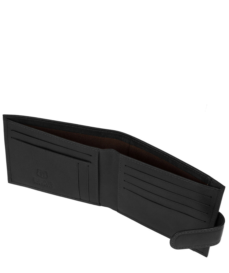 'Rorik' Black Leather Bi-Fold Wallet image 3