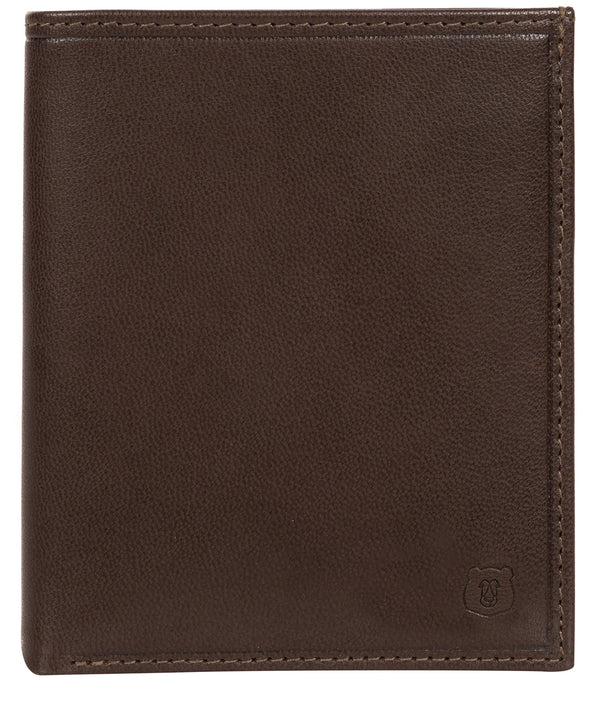 'Rorik' Dark Brown Leather Bi-Fold Wallet image 1