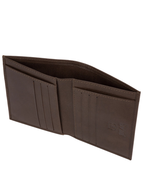 'Rorik' Dark Brown Leather Bi-Fold Wallet Pure Luxuries London