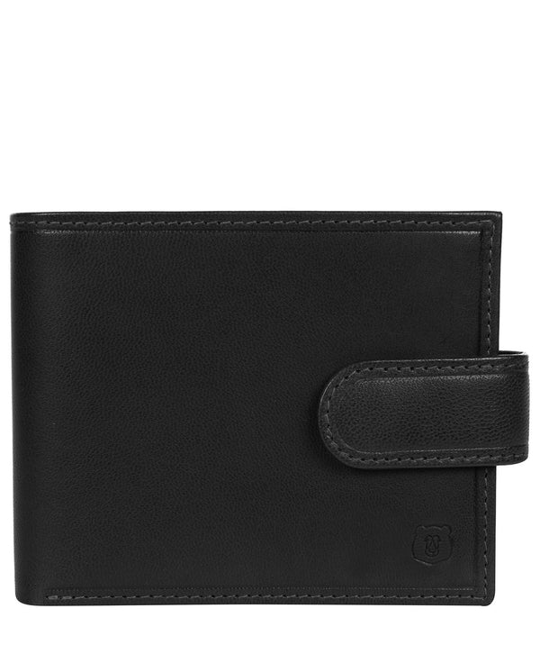 'Olov' Black Leather Bi-Fold Wallet image 1