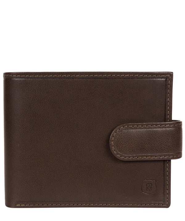'Olov' Dark Brown Leather Bi-Fold Wallet image 1