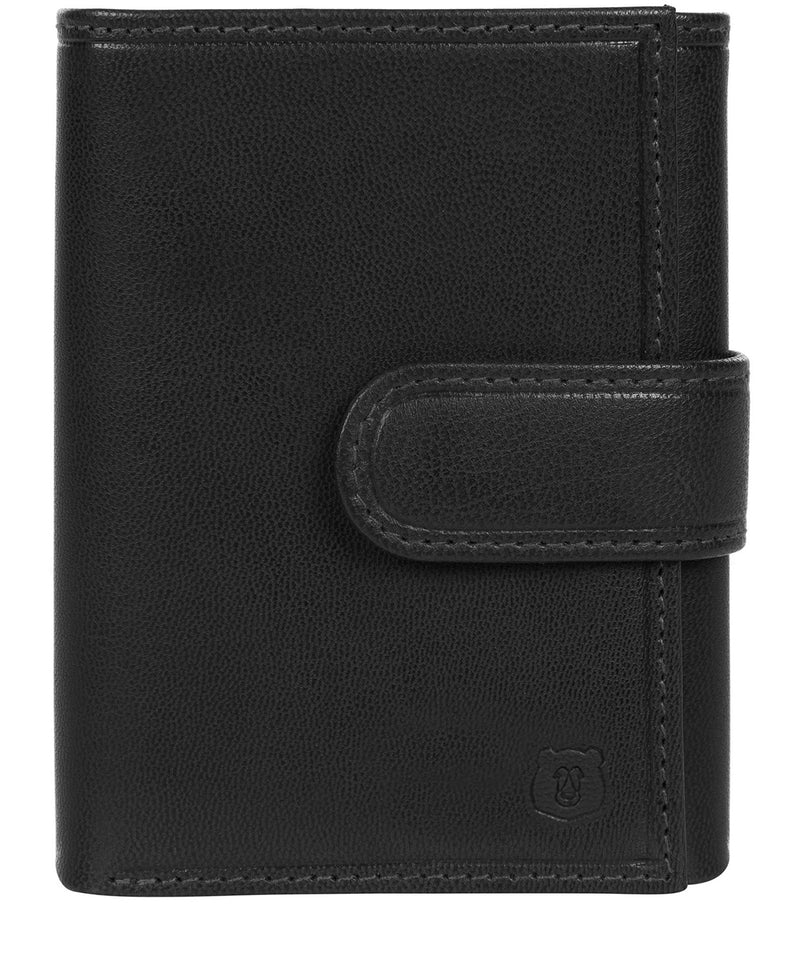 'Aalto' Black Leather Tri-Fold Wallet image 1
