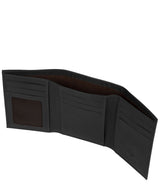 'Aalto' Black Leather Tri-Fold Wallet image 3