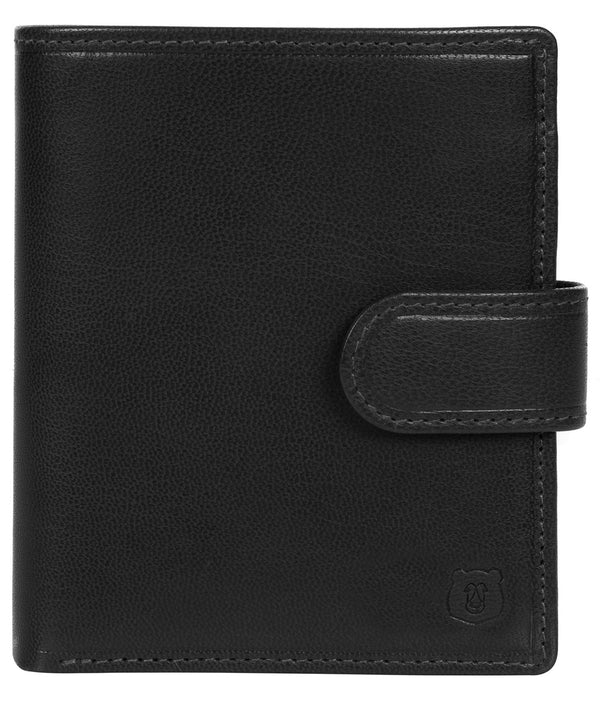 'Bartram' Black Leather Bi-Fold Wallet image 1