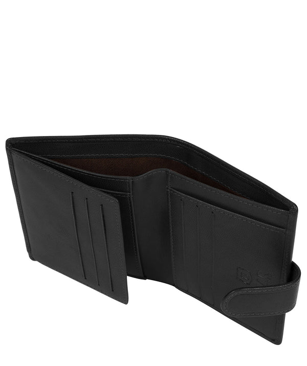 'Bartram' Black Leather Bi-Fold Wallet image 3