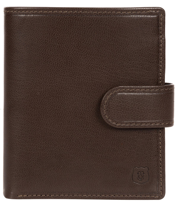 'Bartram' Dark Brown Leather Bi-Fold Wallet Pure Luxuries London