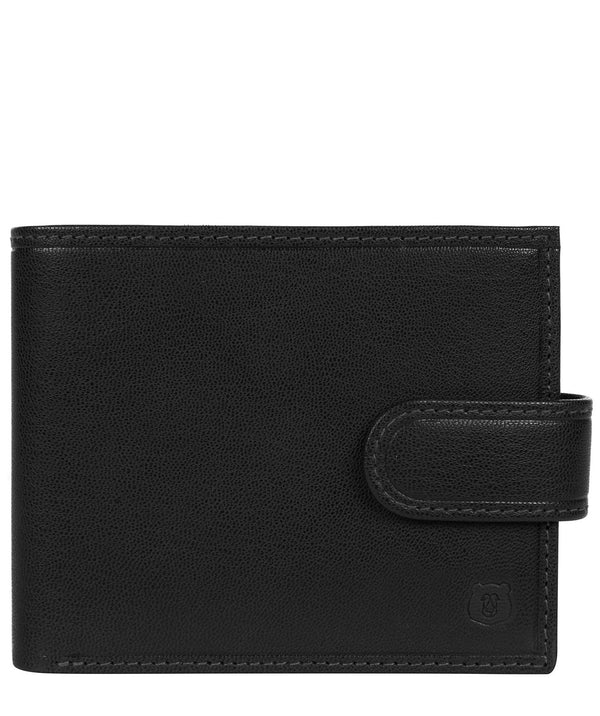 'Daan' Black Leather Bi-Fold Wallet Pure Luxuries London
