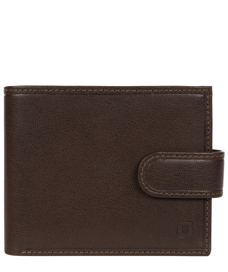 'Daan' Dark Brown Leather Bi-Fold Wallet image 1
