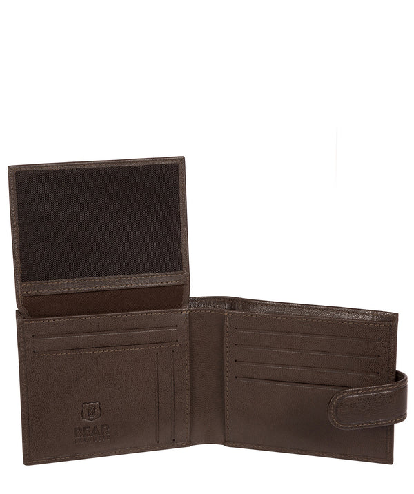'Daan' Dark Brown Leather Bi-Fold Wallet Pure Luxuries London