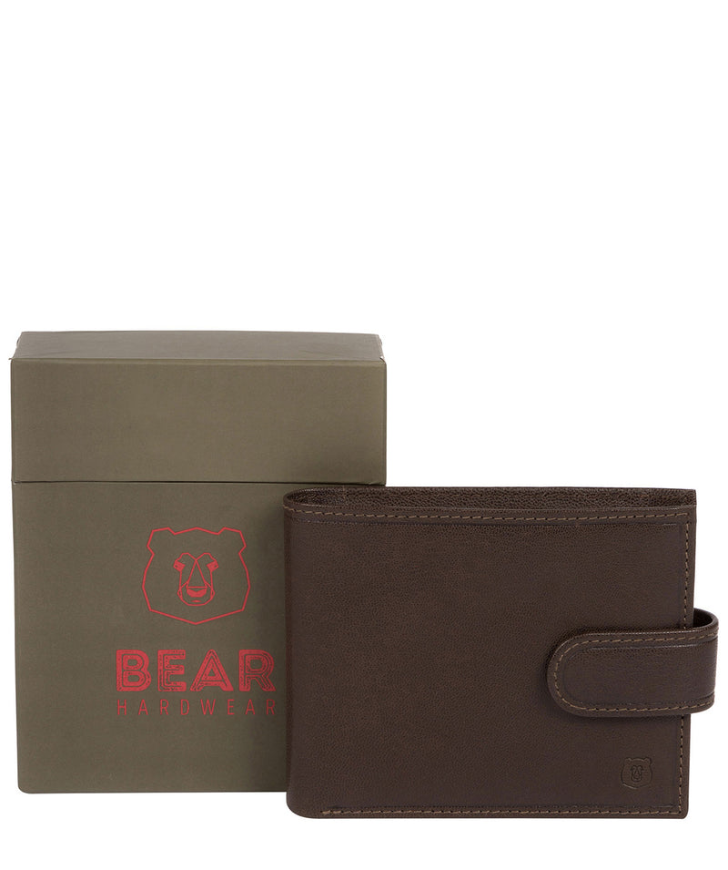 'Daan' Dark Brown Leather Bi-Fold Wallet image 4