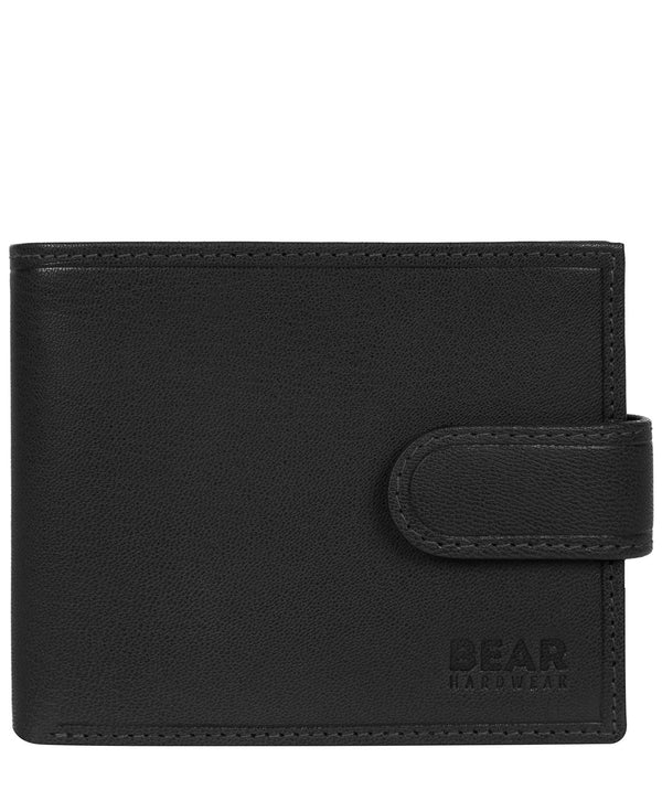 'Arden' Black Leather Bi-Fold Wallet image 1