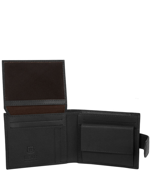 'Arden' Black Leather Bi-Fold Wallet image 3