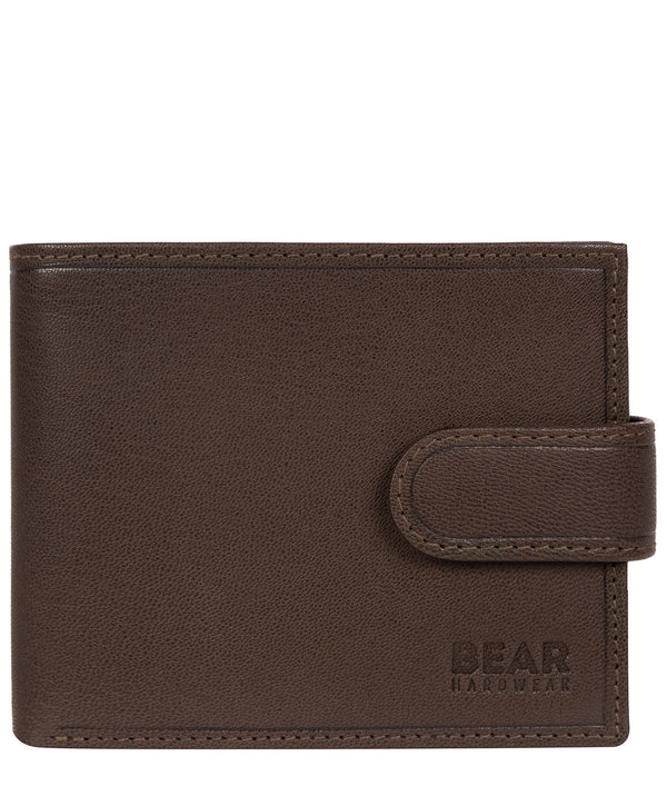 'Arden' Dark Brown Leather Bi-Fold Wallet Pure Luxuries London