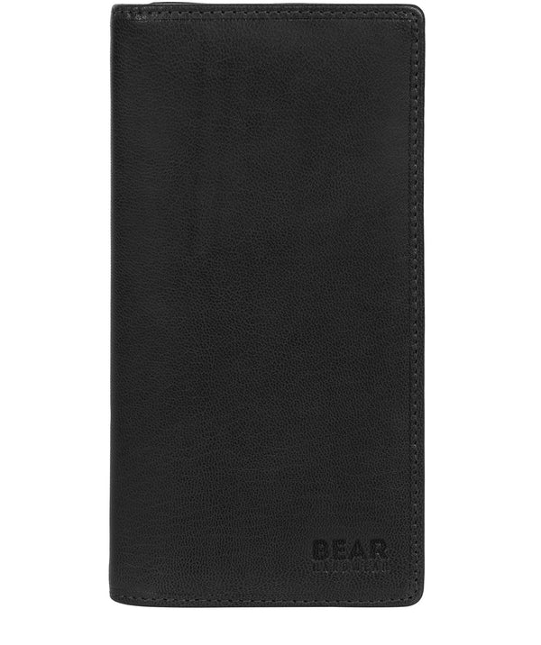 'Volund' Black Leather Breast Pocket Wallet Pure Luxuries London