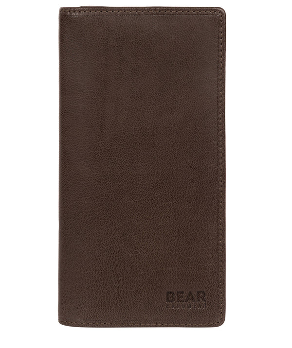 'Volund' Dark Brown Leather Breast Pocket Wallet Pure Luxuries London