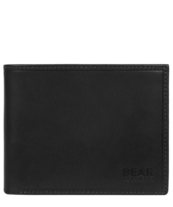 'Vidar' Black Leather Bi-Fold Wallet image 1
