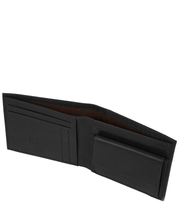 'Vidar' Black Leather Bi-Fold Wallet image 3
