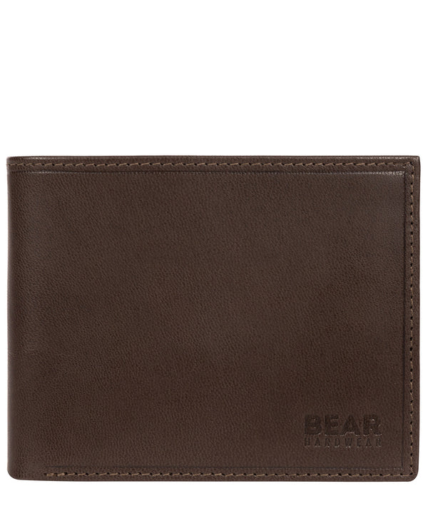 'Vidar' Dark Brown Leather Bi-Fold Wallet image 1