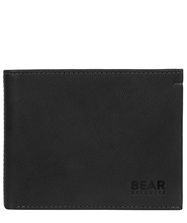 'Svanhild' Black Leather Bi-Fold Wallet image 1