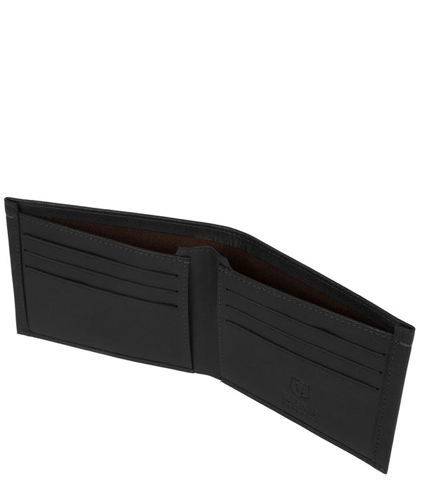 'Svanhild' Black Leather Bi-Fold Wallet image 3