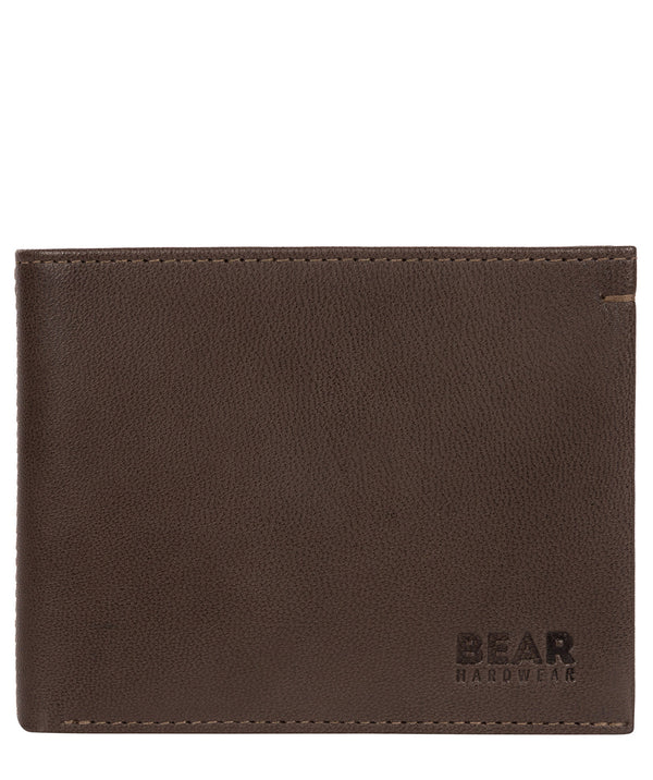 'Svanhild' Dark Brown Leather Bi-Fold Wallet image 1