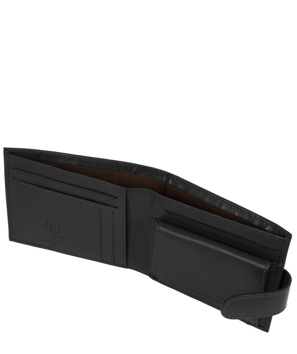 'Odinn' Black Leather Bi-Fold Wallet image 3