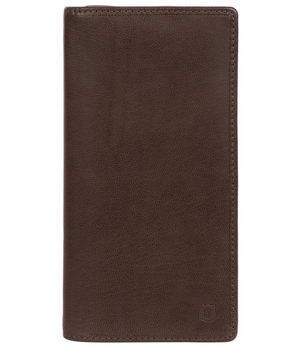 'Wyre' Dark Brown Leather Breast Pocket Wallet Pure Luxuries London