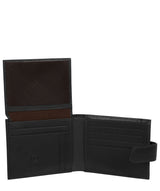 'Orvar' Black Leather Bi-Fold Wallet image 3