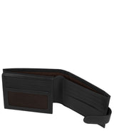 'Orvar' Black Leather Bi-Fold Wallet image 4