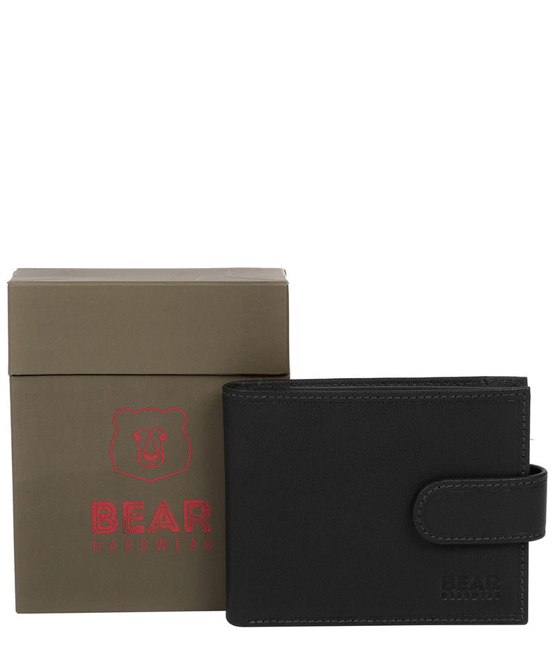 'Orvar' Black Leather Bi-Fold Wallet image 5