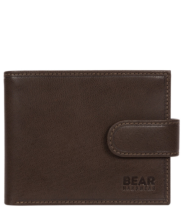'Orvar' Dark Brown Leather Bi-Fold Wallet image 1