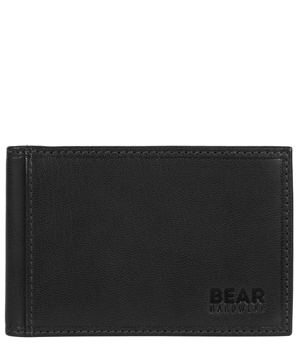 'Huld' Black Leather Bi-Fold Card Holder image 1