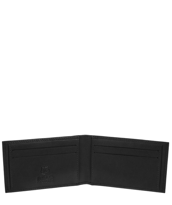'Huld' Black Leather Bi-Fold Card Holder image 3