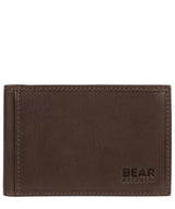 'Huld' Dark Brown Leather Bi-Fold Card Holder Pure Luxuries London