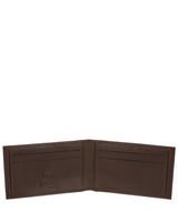 'Huld' Dark Brown Leather Bi-Fold Card Holder image 3