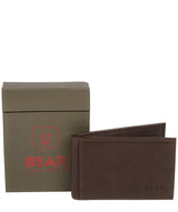 'Huld' Dark Brown Leather Bi-Fold Card Holder image 4