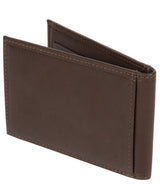 'Huld' Dark Brown Leather Bi-Fold Card Holder image 5