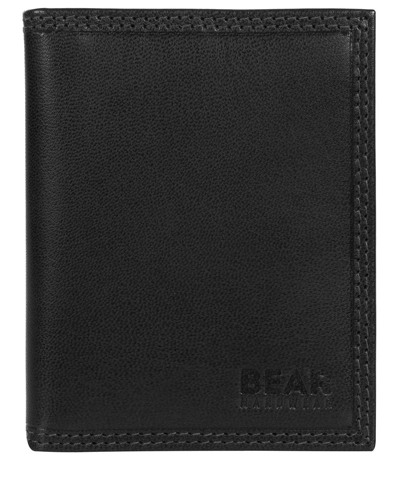 'Haldan' Black Leather Bi-Fold Card Holder image 1