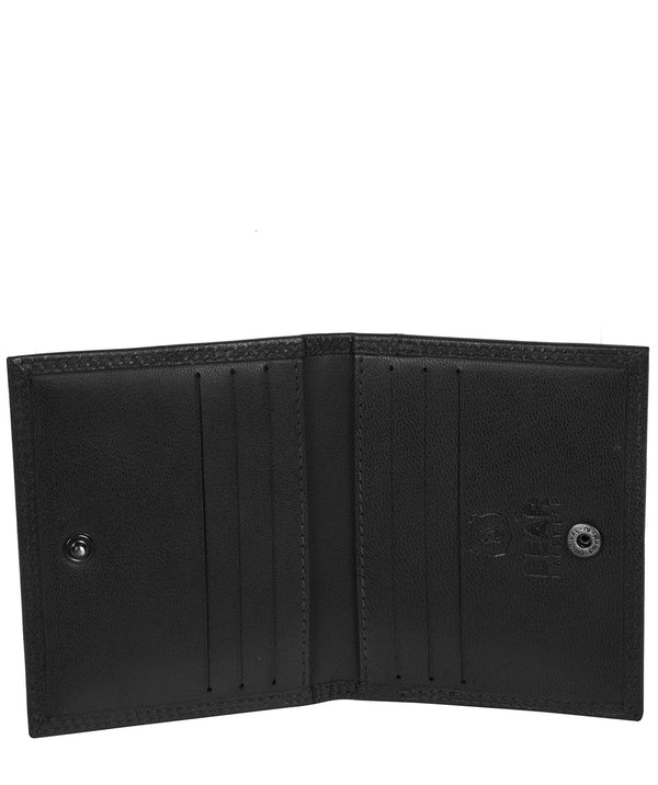 'Haldan' Black Leather Bi-Fold Card Holder image 3
