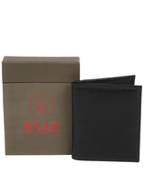 'Haldan' Black Leather Bi-Fold Card Holder image 4