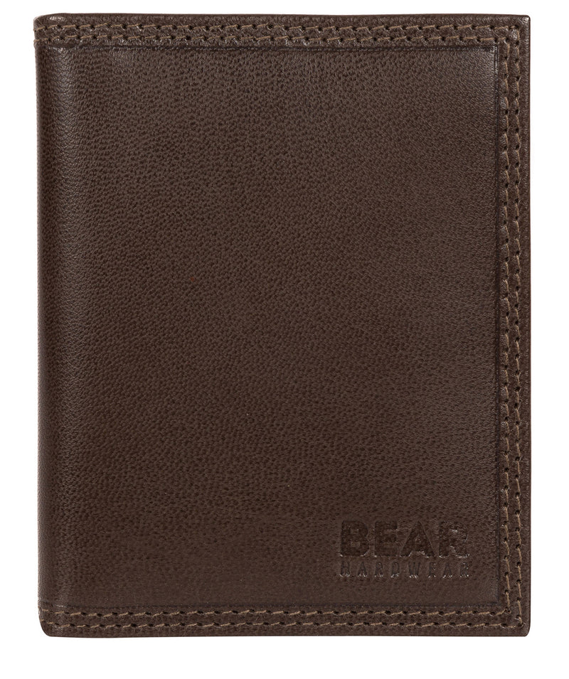 'Haldan' Dark Brown Leather Bi-Fold Card Holder image 1