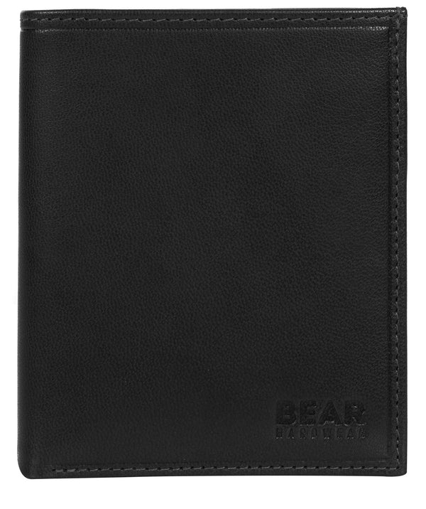 'Ulrik' Black Leather Bi-Fold Wallet image 1