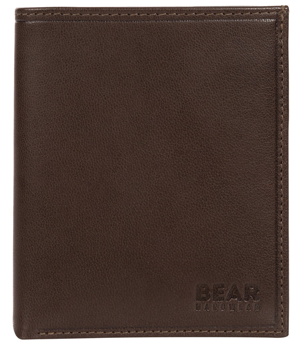 'Ulrik' Dark Brown Leather Bi-Fold Wallet image 1