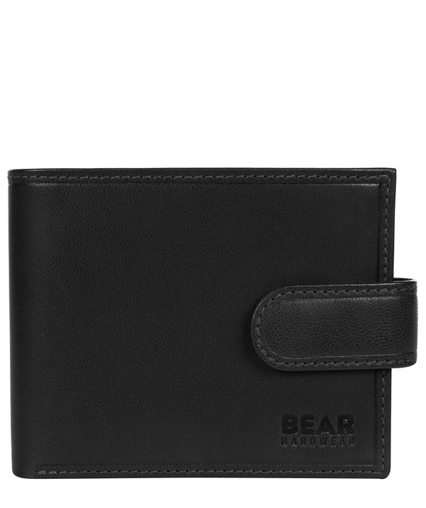 'Borge' Black Leather Bi-Fold Wallet image 1